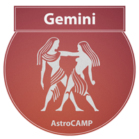 Image of Gemini zodiac sign etc